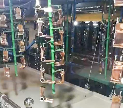 Faucet, electroplating display