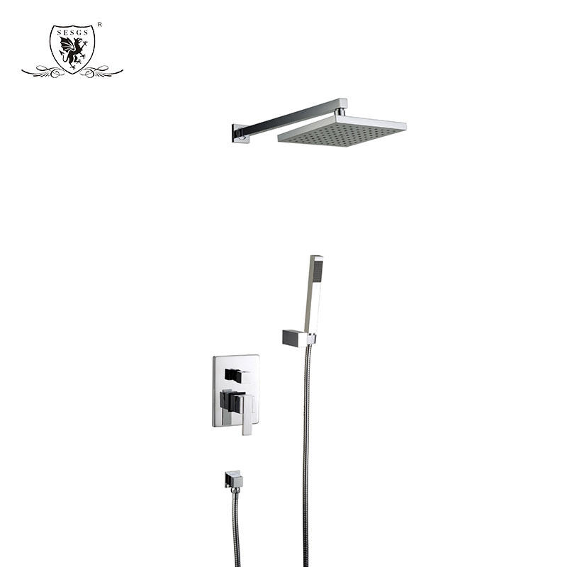 Concealed shower mixer   Sneak shower faucet Square dark installed shower faucet35012