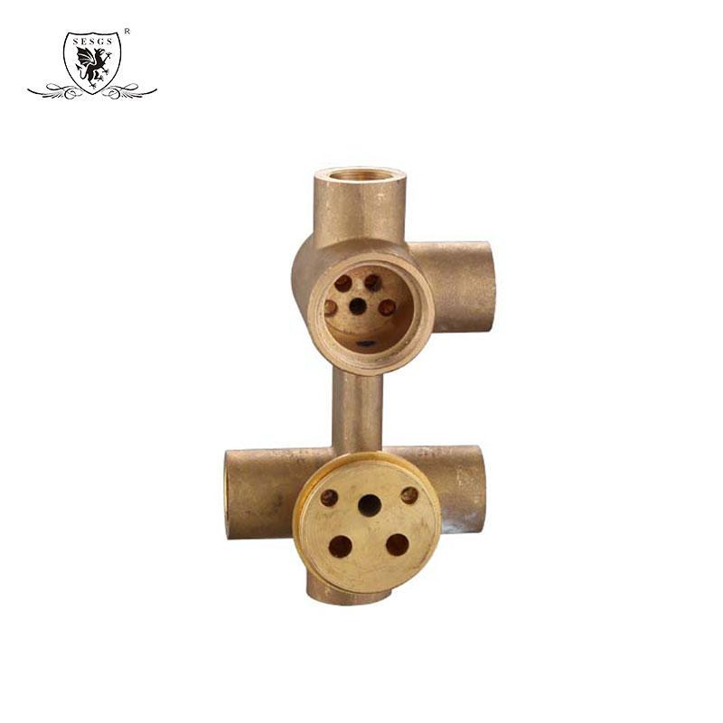 Concealed shower mixer   Sneak shower faucet Square dark installed shower faucet35012