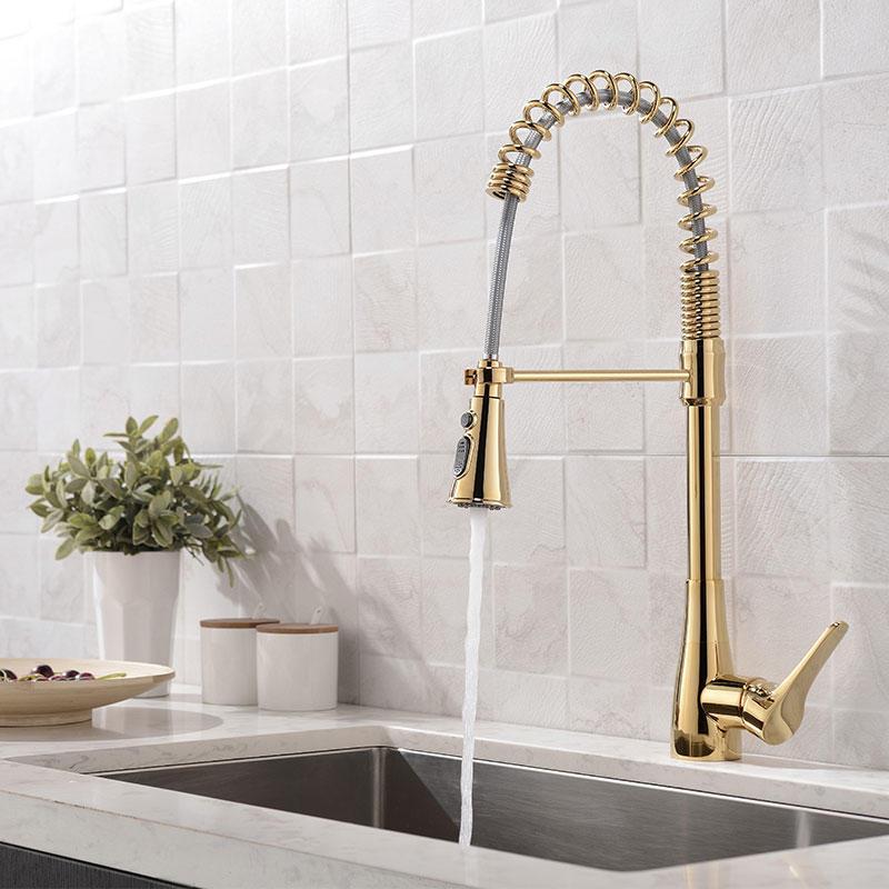 golden pull faucet golden pull tap  MF - 3034