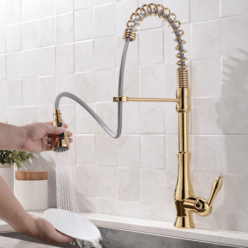 faucet  golden pull faucet  MF-3033